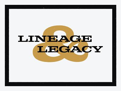 Lineage & Legacy design brand simple texture grain vintage midwest cincinnati branding collateral typography