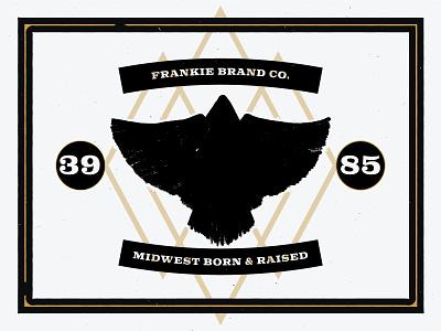Frankie Midwest Eagle shadow coal gold gritty eagle design illustration branding vintage kentucky cincinnati