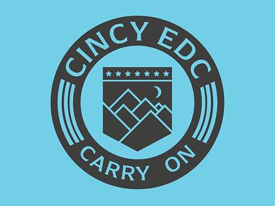 CincyEDC Logo branding and identity every day carry simple logo branding edc cincinnati