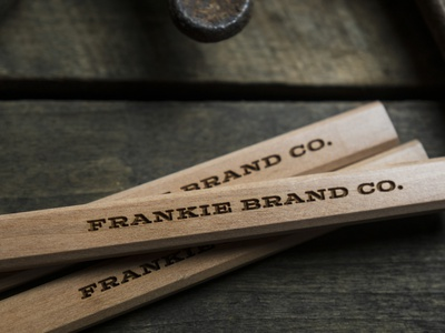 Frankie Brand Co. Carpenter Pencils design simple typography logo cincinnati tools collateral design branding midwest product photography products accessories swag