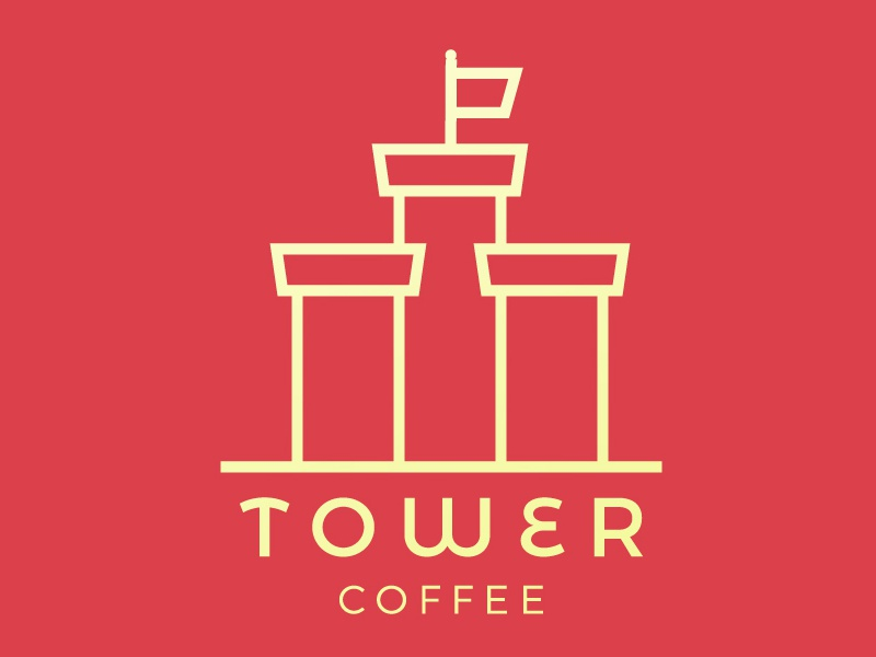 Coffeeshop at the top brand design logo design logo daily typography letter coffee shop coffee day6 dailylogochallenge novelmarks