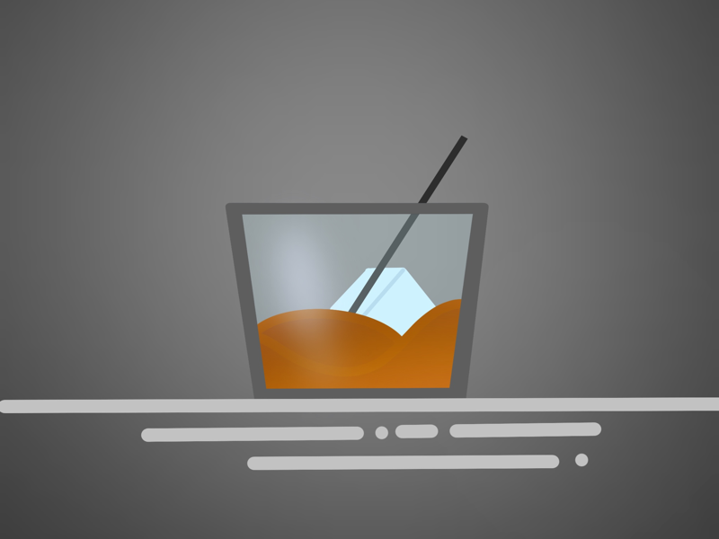 Cheers cincinnati digital illustration drawing gradient tasty procreate cocktail whisky whiskey bourbon