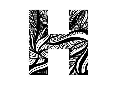 H Doodle mark design illustration hand drawn letter h abstract cincinnati goodtype typography letter procreate zenart doodle