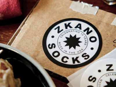 Final Sticker for Zkano branding photo packaging label swag marketing collateral details sticker