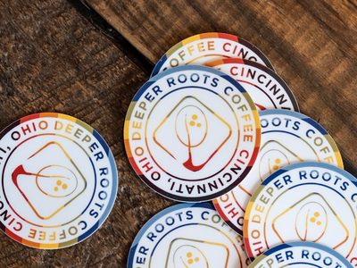 New Stickers for Deeper Roots Coffee ohio cincinnati coffee sticker mule sticker