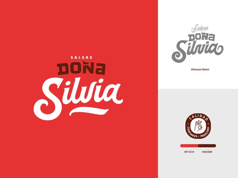 Logo Doña Silvia vector design logo sketch calligraphy script pencil letters lettering