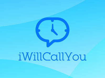 iWillCallYou schedule call schedule email schedule text dialog box clock i will call you app logo app scheduling