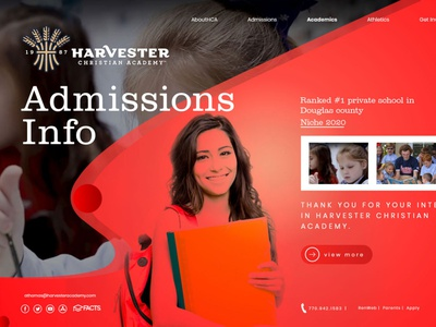 Harvester Christian Academy illustration icon design web design ui logo branding