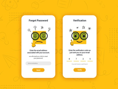 Login Verification Screens logo design illustration ui design web design branding