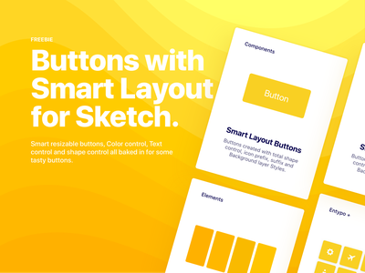 Smart Layout Buttons for Sketch (Freebie) vector user interface freebie free ui buttons bohemian coding sketch