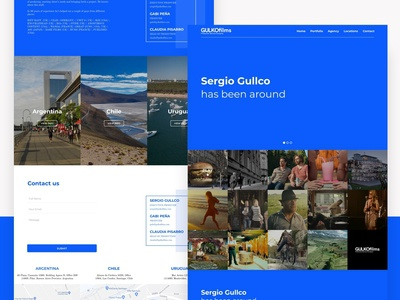 Guko Films sketch landing cinema typography branding web ui design ux