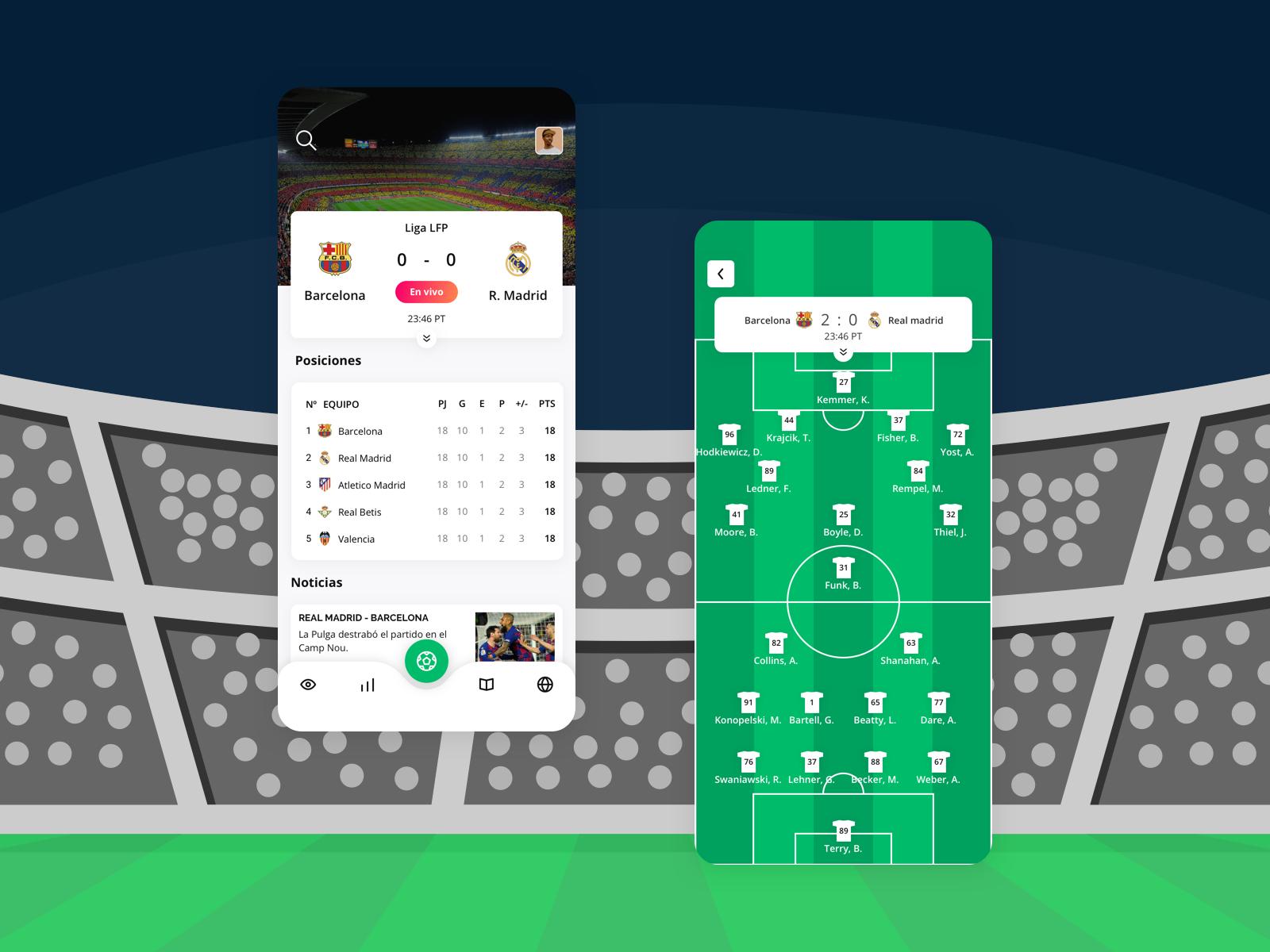Soccer App Proposal futbol design mobile ui ux app soccer sketch
