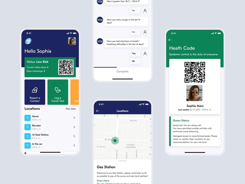 VÒS - Virus Oversight System app ios sketch mobile ui design ux