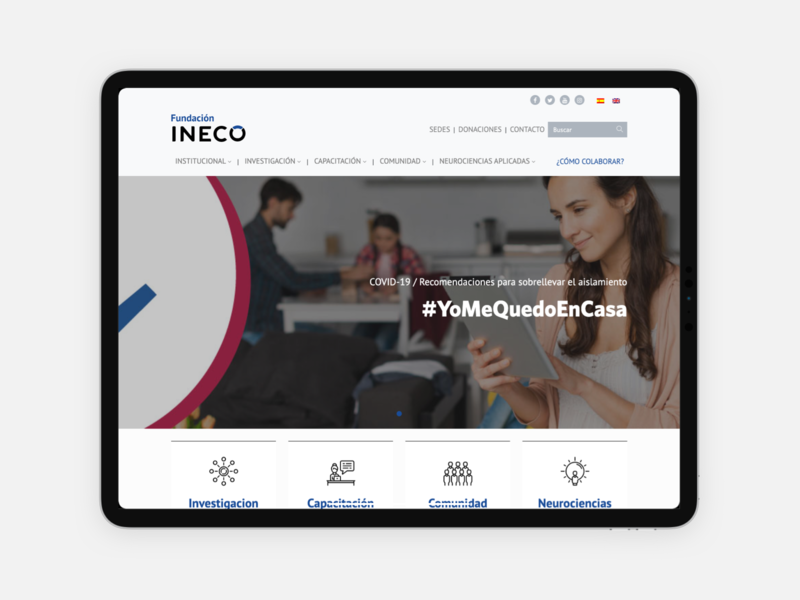 Fundacion INECO health ineco fundation web sketch ui design ux