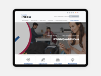 Fundacion INECO health ineco fundation web sketch ui design ux