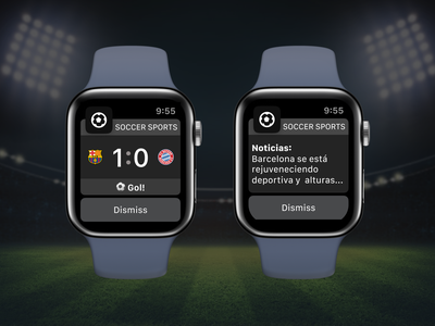 Soccer Apple Watch Widget soccer app sports game match soccer apple proposal ios mobile watch app sketch ui design ux