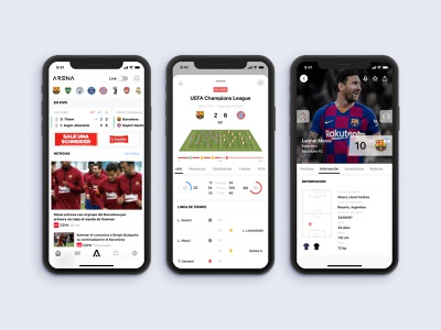 Arena Sports tennis sports ios soccer sketch mobile design ui ux