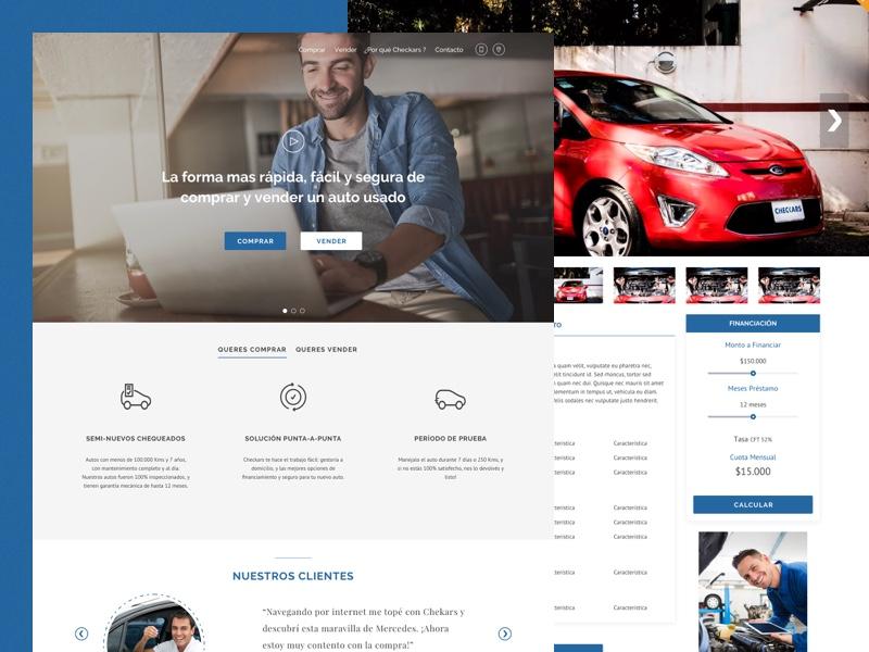 Web Site - Shop Car design web ux ui