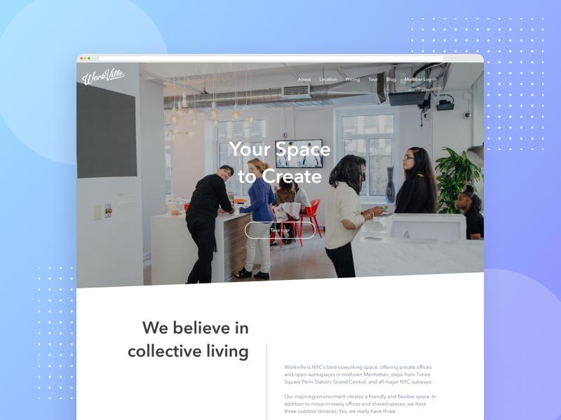 WorkVille Design Proposal ui web ux design