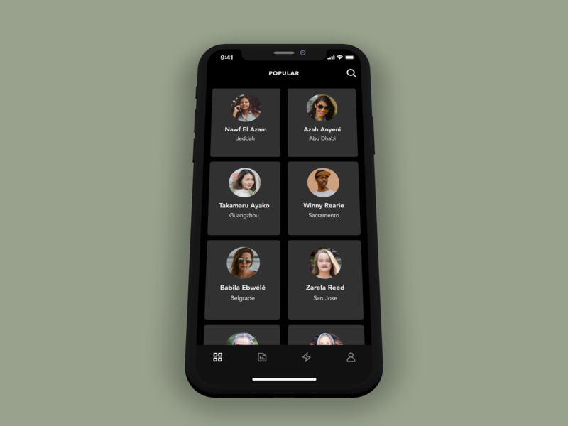 Artist Connect Concept App (Home) ui mobile ux