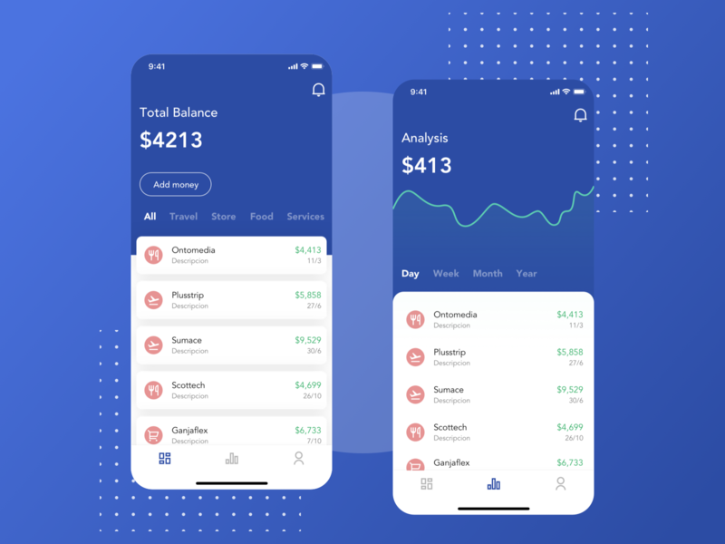 Concept Finance App chart concept fintech finance mobile design ui ux sketch