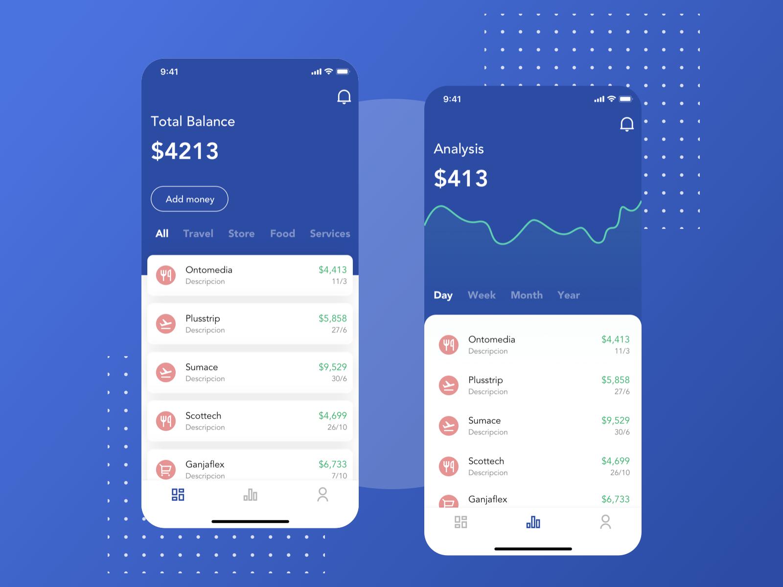 Concept Finance App chart concept fintech finance mobile design ui ux sketch