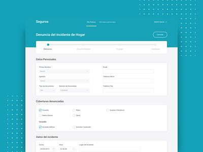 Insurance Admin Responsive proposal sketch web design ui ux