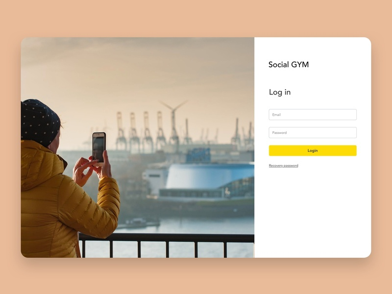 Social GYM   Admin panel typography login form cards follow social dashboard admin sketch web ui design ux