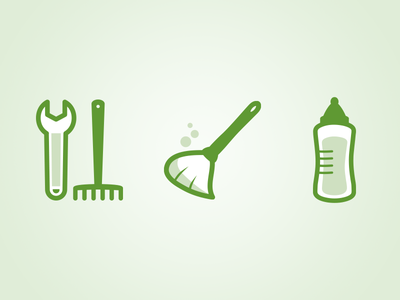 Task Icons sketch vector icons task cleaning babysitting diy