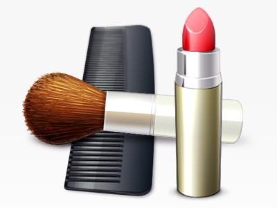 Cosmetics Icon icon lipstick comb brush