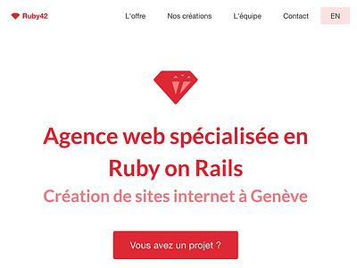 Ruby42 webiste ruby rails agency geneva