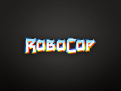 Robocop robocop oldschool logo movie