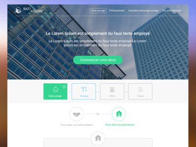 Insurance projet grid flat ux ui webdesign design layout contact form step form form