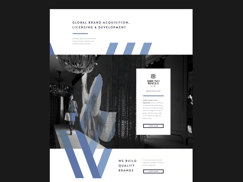Layout - Fashion Equity Investors equity investment fashion design ui flat web