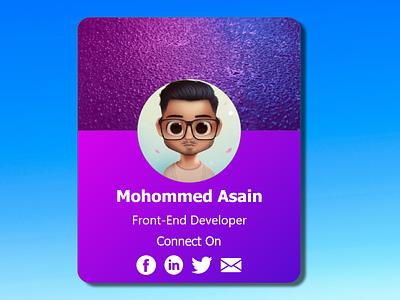 Profile card clean member profile admin interface team sign in profile identity user profile design card minimal design design