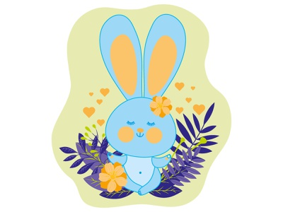 The fabulous rabbit meditates and sends out vibes of love and go vector funny isolated cartoon cute pose relax spirituality love happy zen yoga lotus animal sitting relaxation rabbit hare meditation cute rabbit