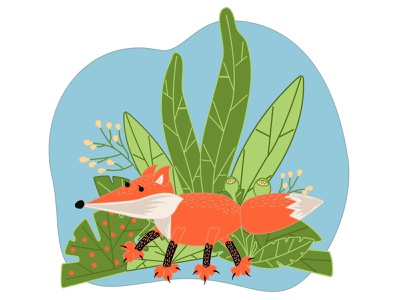 Cute fox in cartoon style portrait decorative foxy beautiful predator children illustration botany plant fur wildlife natural forest animal cartoon closeup cute fox mammal cartoon fox drawn fox