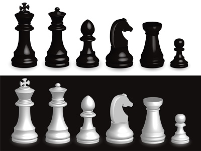 Set of chess pieces 3d. black piece white three-dimensional isolated victory succeed concept business chessboard game success intelligence chess power checkmate win chess pieces chess pieces isolated all chess pieces