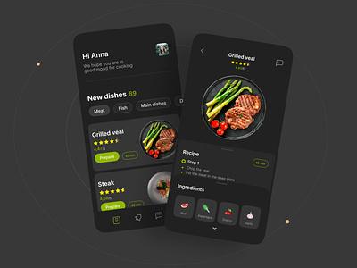 Recipes mobile ux ui design