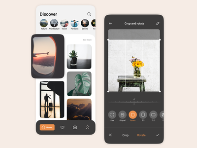 Photo editor mobile design ux ui