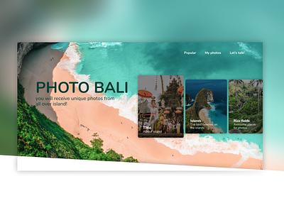 Bali landing page ux ui