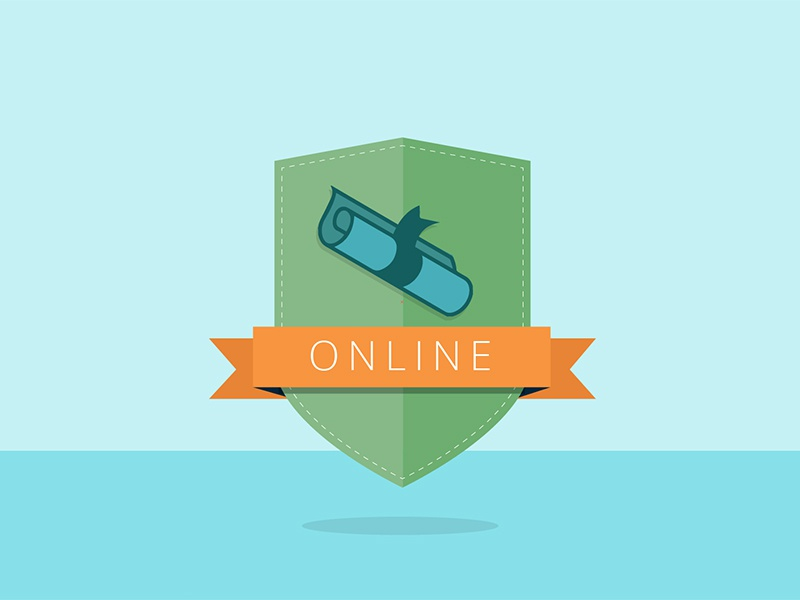 Online Learning animation illustration motion education icons
