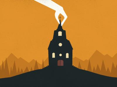 Church illustration motion animation film film titles