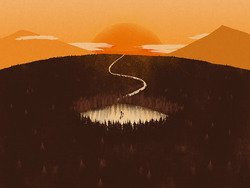 WHLEM - Single artwork silhouettes music design illustration art direction