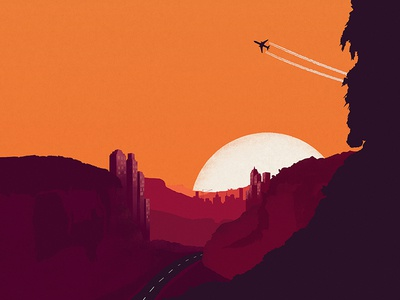 We Lost The Sea - Australian Tour Poster silhouettes music design illustration art direction