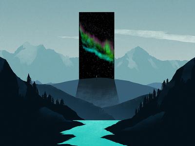 The Monolith photoshop digital art illustration