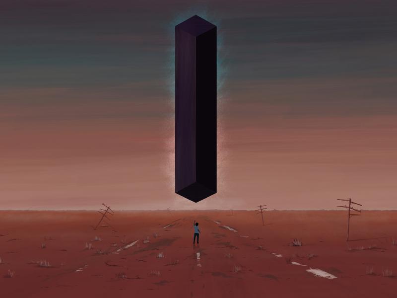 Towers surreal digital art illustration