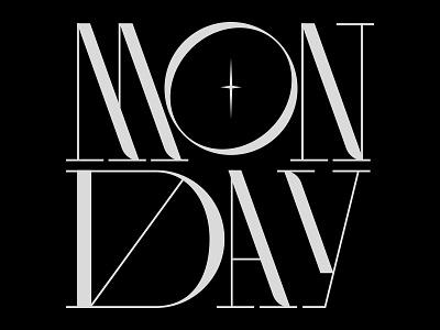 Yesterday was monday display minimalist brand design vector typography logotype logo type