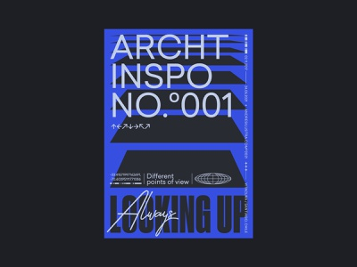 Archt Inspo No°001 inspiration archt architecture fonts typography poster design graphic design design vector type posters poster