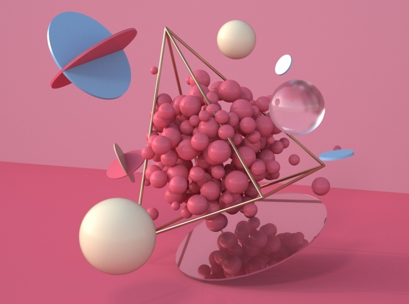 Floating things ilustración illustration abstract art abstract cinema4d c4d floating 3d art 3d